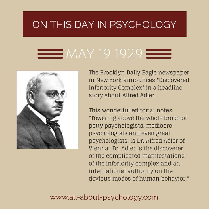 the adlerian psychology N founded by alfred adler, championed in america  n inferiority complex: the  individual is overwhelmed by a sense  n adler's five psychological positions: 1.