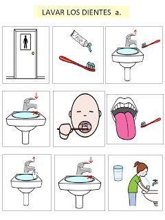 Autismus Arbeitsmaterial: Bilder: Zähne putzen