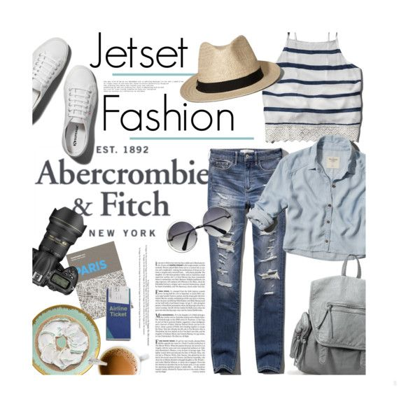 The A&F Summer Getaway Giveaway: Contest Entry by clovers-mind on Polyvore featuring Abercrombie & Fitch, Kim Seybert, Palomar, Vanity Fair and Cutie