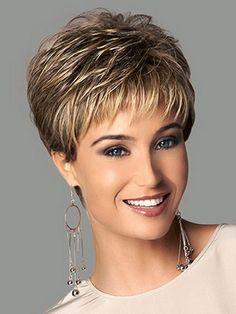 Reflejos rubios sintética corta femenina corte de pelo, hinchada pelucas pelo natural pelucas de pelo corto para las mujeres negras