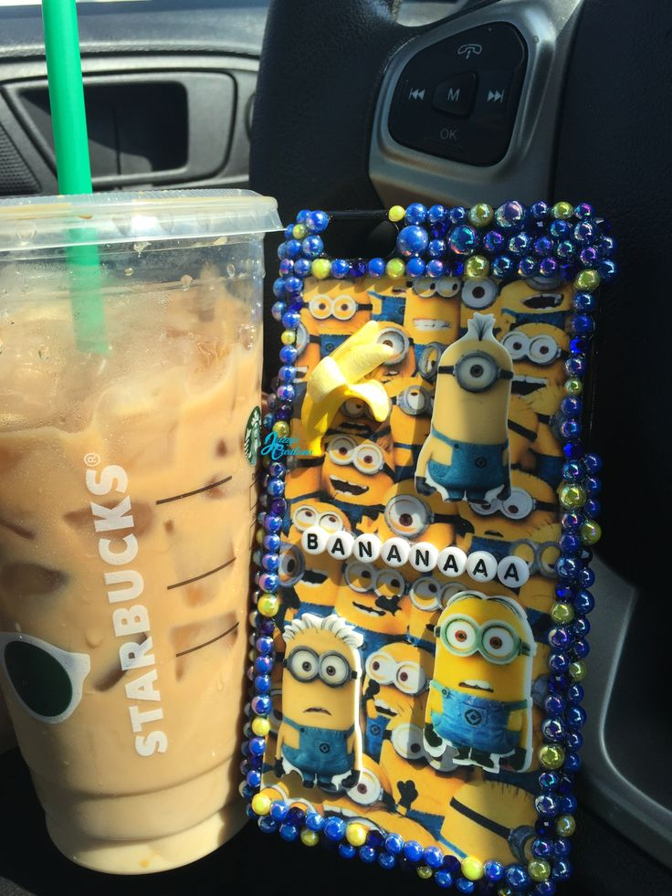 Minions phone case and Starbucks these are a few of my favorite things.