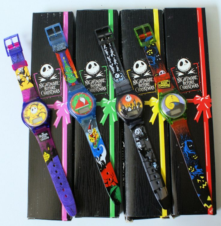 Set of 4 Vintage 1994 NIGHTMARE BEFORE CHRISTMAS Promo Burger King Watches