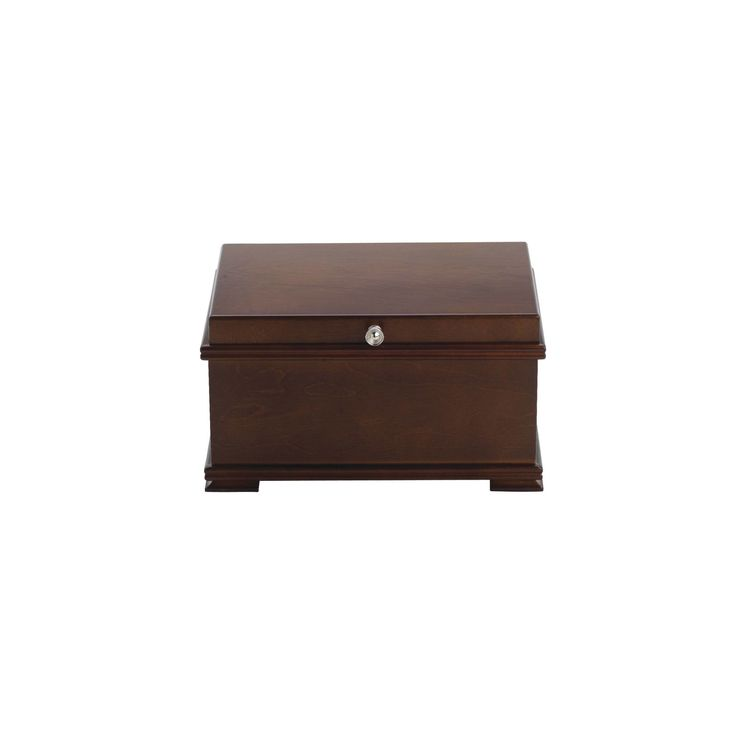 Reed & Barton Bailey Brown Wooden Jewelry Box (Bailey)