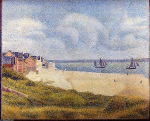 Le Crotoy, Downstream - (Georges Pierre Seurat)