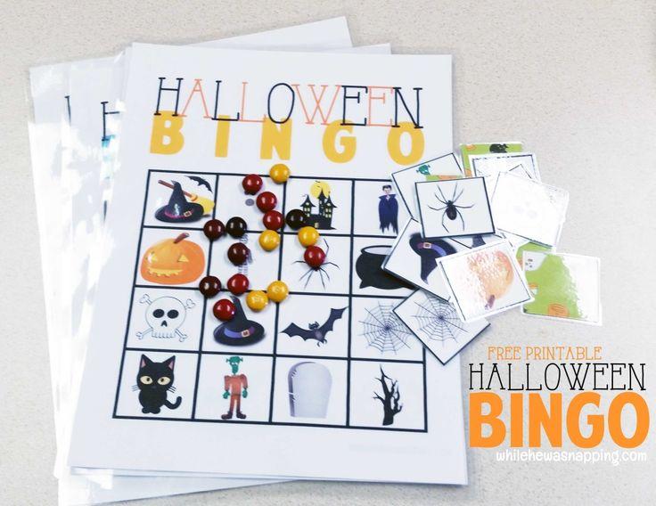 free halloween bingo printable game fun for the kids and a great way to spend - Preschool Halloween Bingo