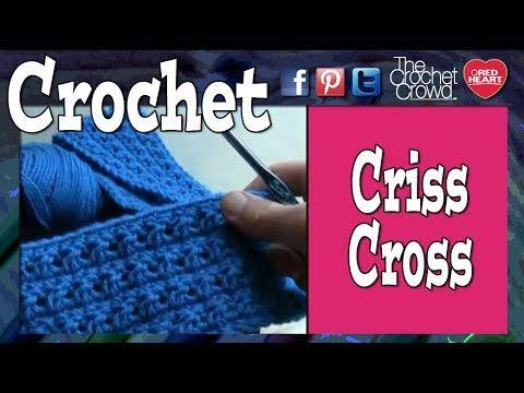 ▶ How To Criss Cross Crochet - YouTube