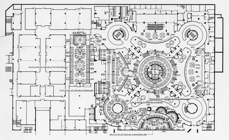 John portman westin bonaventure hotel lobby floor plan for Floor plans los angeles