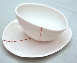 Coupe Couture en porcelaine