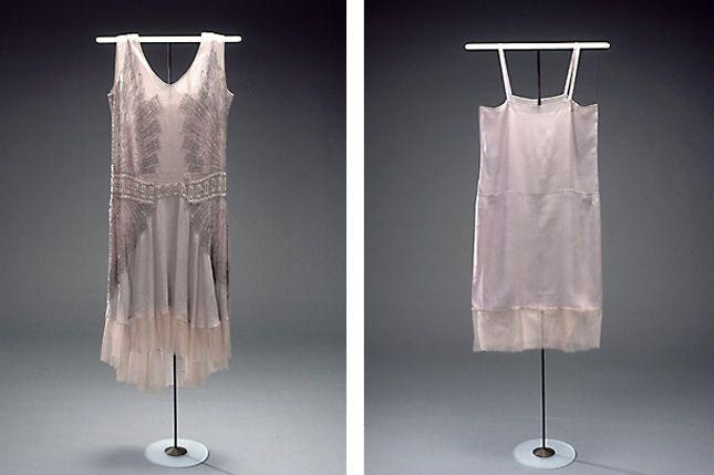 Charlestonkjole fra 1929 - 1920'ernes kvindemode - Nationalmuseet