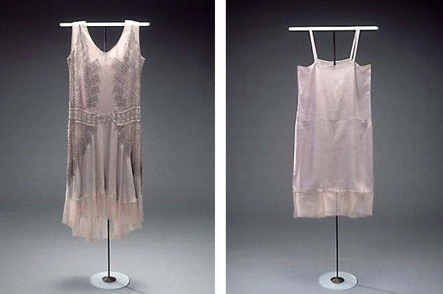 charlestonkjole, 1929 dancing dress with matching slip