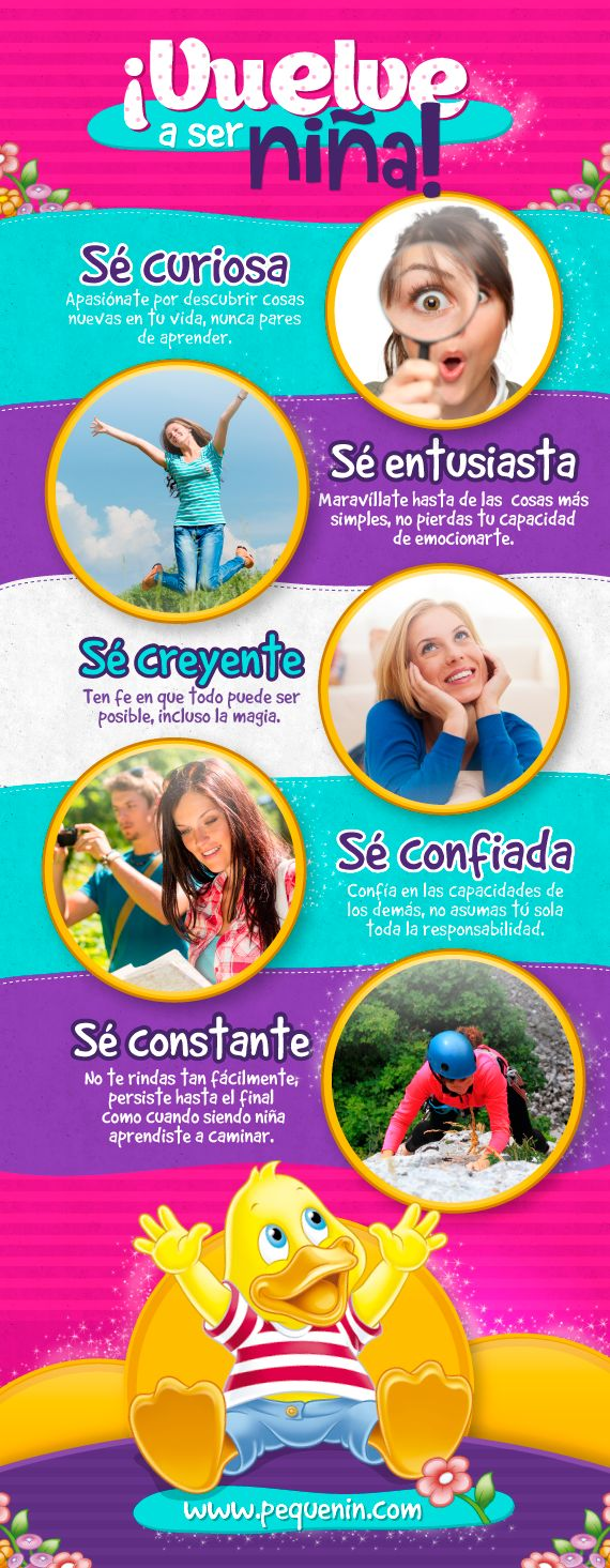 Te contamos los beneficios de rescatar en tu vida de adulta algunas características innatas de la infancia.