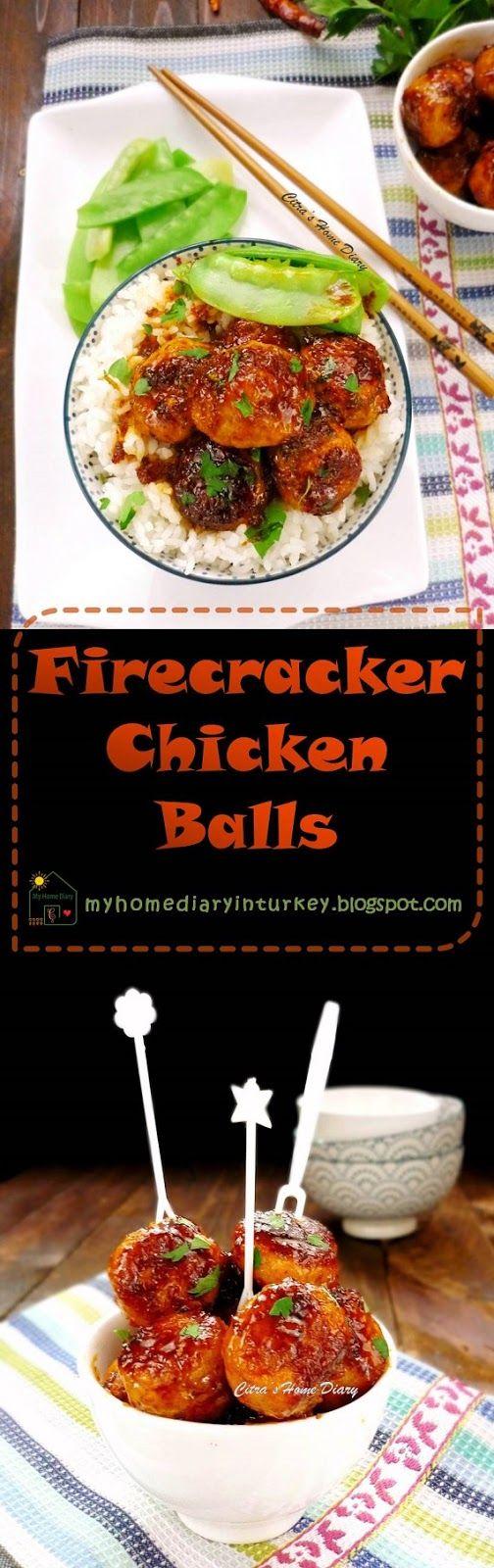Firecracker chicken balls Recipe