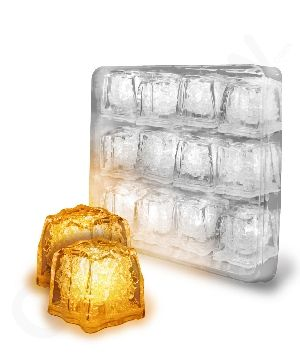 Light up your #Halloween #party with these orange LED ice cubes!