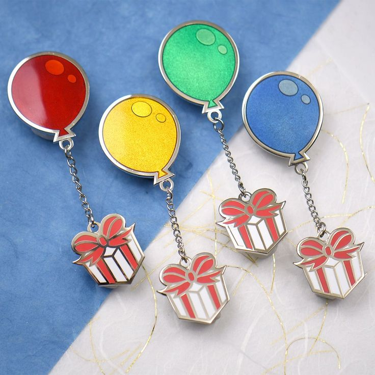 Animal crossing balloons present pin unique items