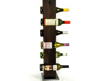 Estante de vino personalizado c.1800s madera de granero
