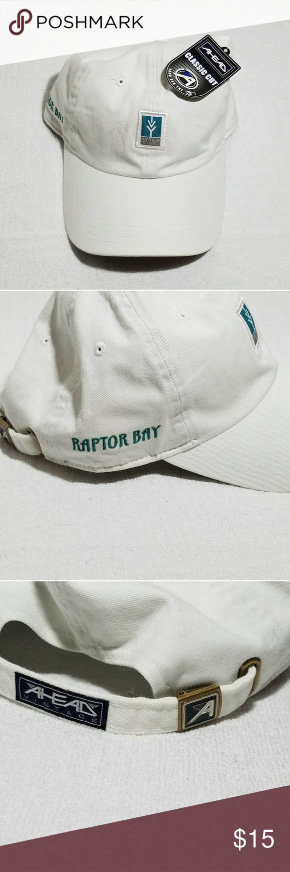 White Ahead Classic Cut Ivy Tech Baseball Cap This pre-owned Ivy Tech Foundation adjustable strapback baseball cap was never worn like new condition. Enjoy wearing this hard to find cotton material quality hat perfect for college students wear in time for the great weather this year or to give as a gift. Ahead  Accessories Hats