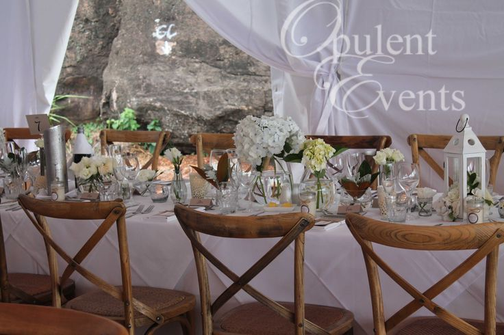 Timber Cross Back chairs, Marquee wedding, The Anchorage, Port Stephens