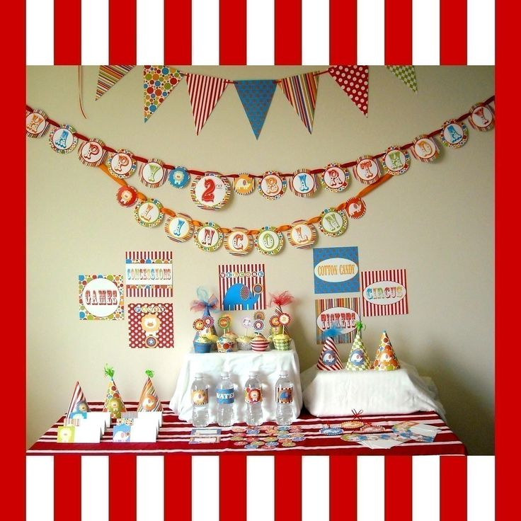 Printable Party Package...DIY Circus by DimplePrints. $10.00, via Etsy.  Just ordered this package...the quality is amazing!!!