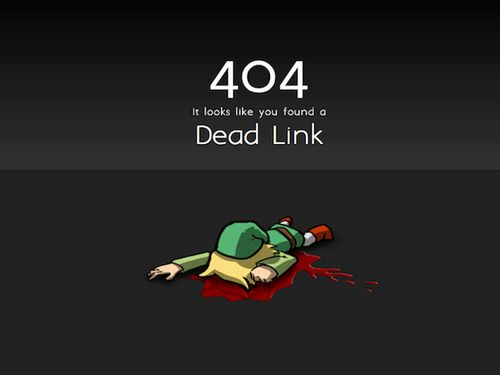 Used by Zelda fans across the Internet: | The 28 Best Error Pages On TheInternet