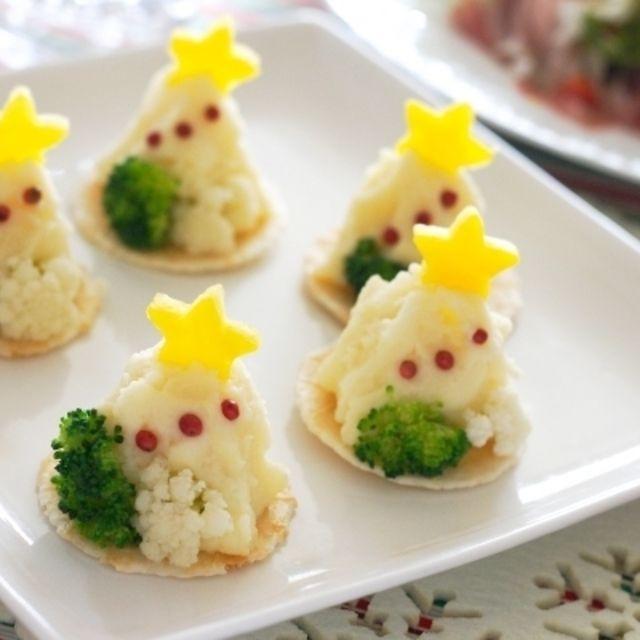 クリスマスツリー風ポテトサラダ