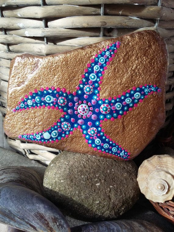 Hey, I found this really awesome Etsy listing at https://www.etsy.com/listing/513224591/painted-rock-painted-star-fish-acrylic