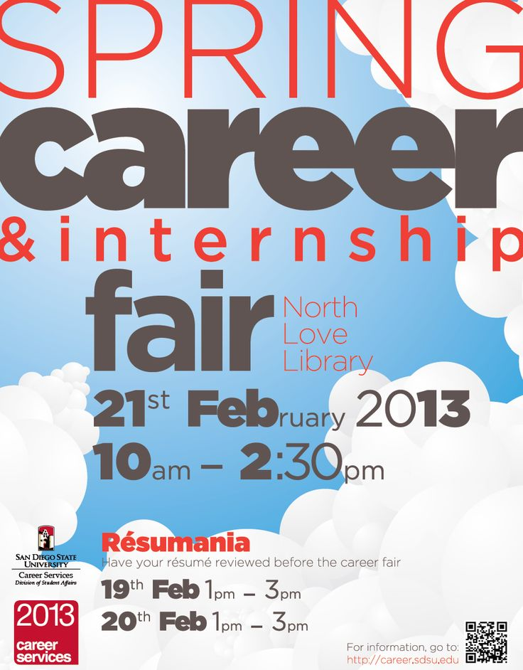 sdsu spring 2013 career fair flyer