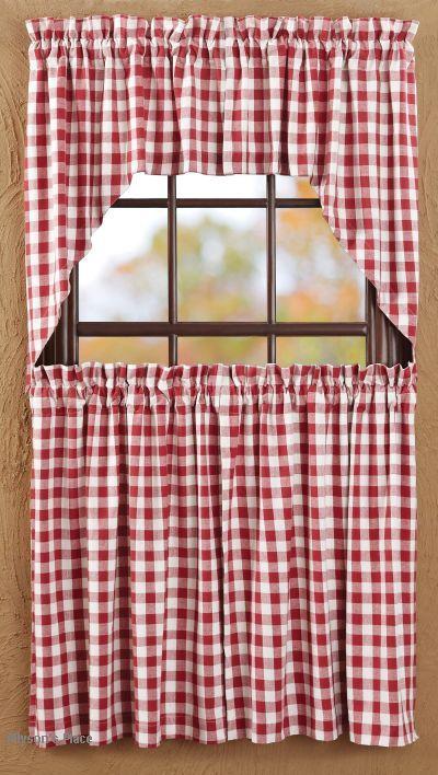 Buffalo Check Valence Curtains Buffalo Red Check Curtain