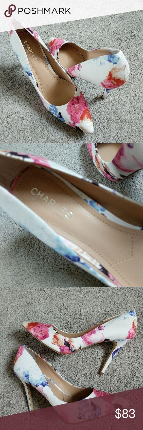 "⭐ Charles David Floral Heels 4.25"" heels Canvas fabrics upper Brand new, no box Charles David Shoes Heels"