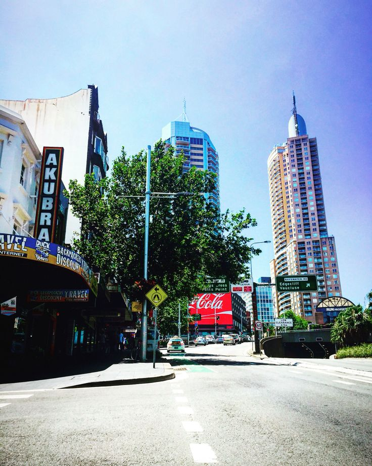 Along William Street Sydney