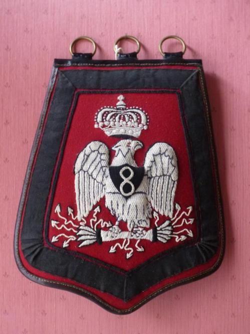 Sabretache de la troupe du 8e Hussards vers 1809-1812.