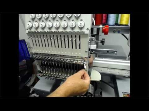 SWF Embroidery Machine Training Tip - Cap Driver Changing Needle Plate - YouTube