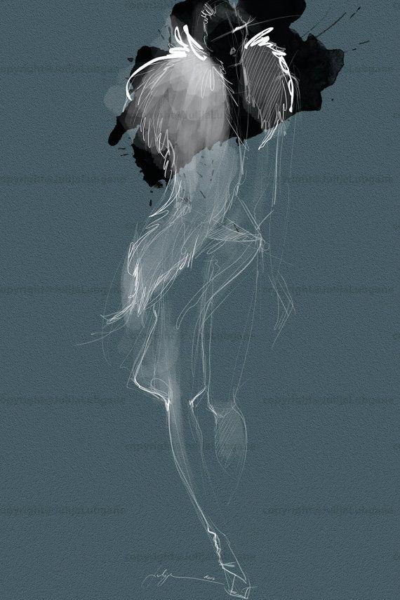 Illustrazione moda stampa arte dell'acquerello di JulijaLubgane
