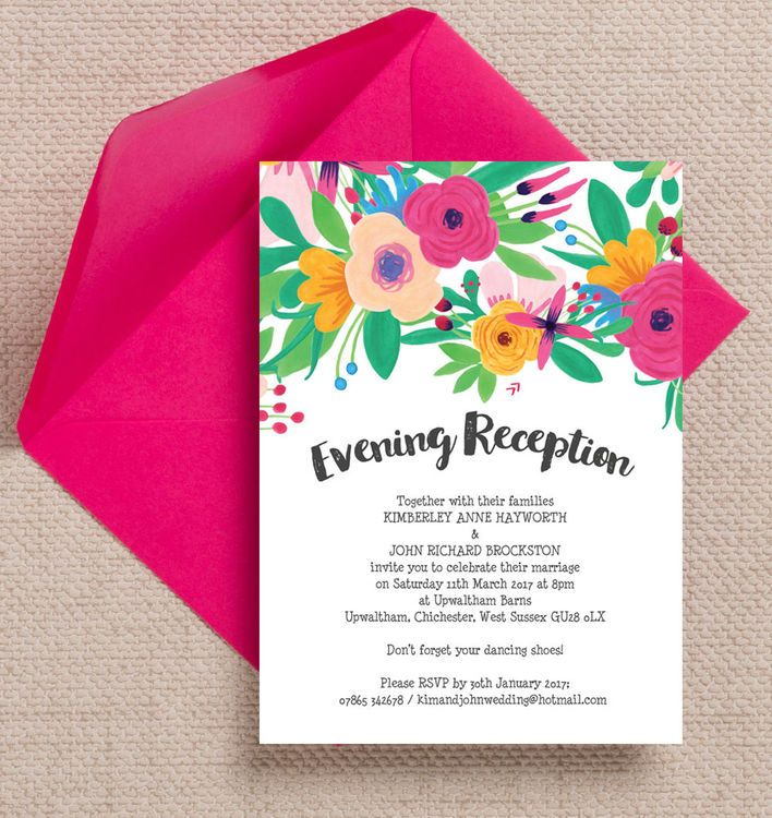 41 best beautiful evening wedding reception invitations images on floral fiesta evening reception invitation stopboris Choice Image