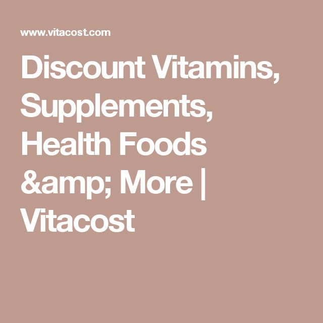 Discount Vitamins, Supplements, Health Foods & More | Vitacost