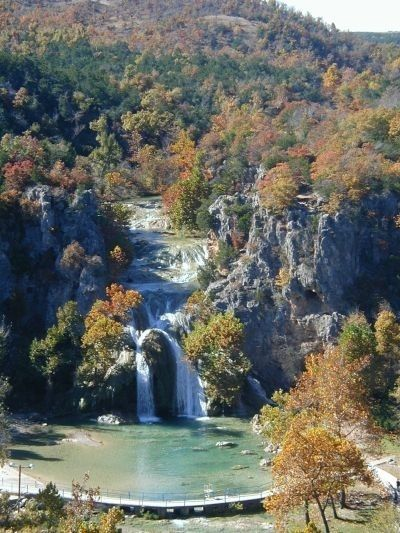 Turner Falls in S Central Oklahoma    (Growing up this was a favorite place we loved to go,I remember our dad taking us for a day of swimming & fun !!!)