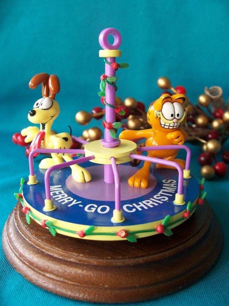 Enesco Ornament 1991 1992 1993 Garfield Merry Christmas Go-Round