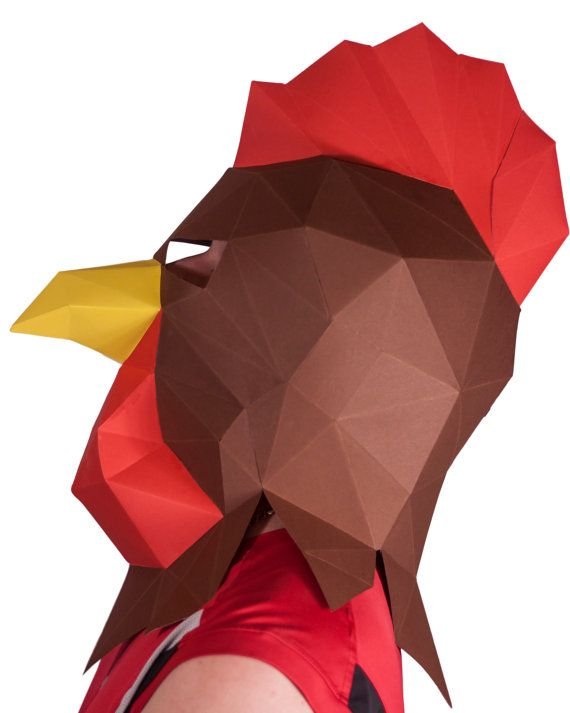 Rooster mask use this PDF template to make your от LoveKnittings