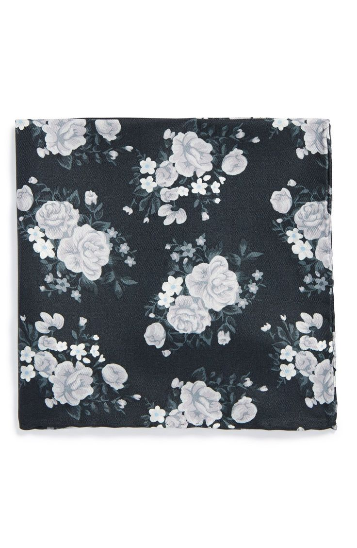 The Tie Bar Floral Silk Pocket Square (Online Only) $10