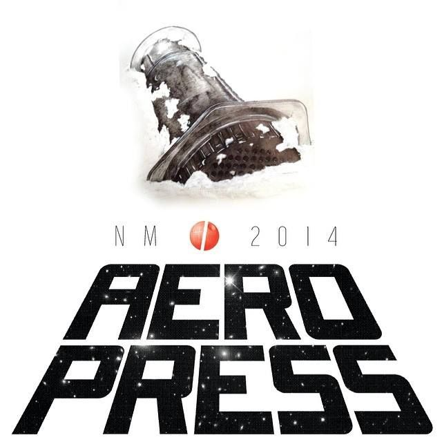 NM i Aeropress 2014 Norwegian Aeropress Championship 2014 Type by Harald Johnsen Vøyle Illustration by Lars K. Huse