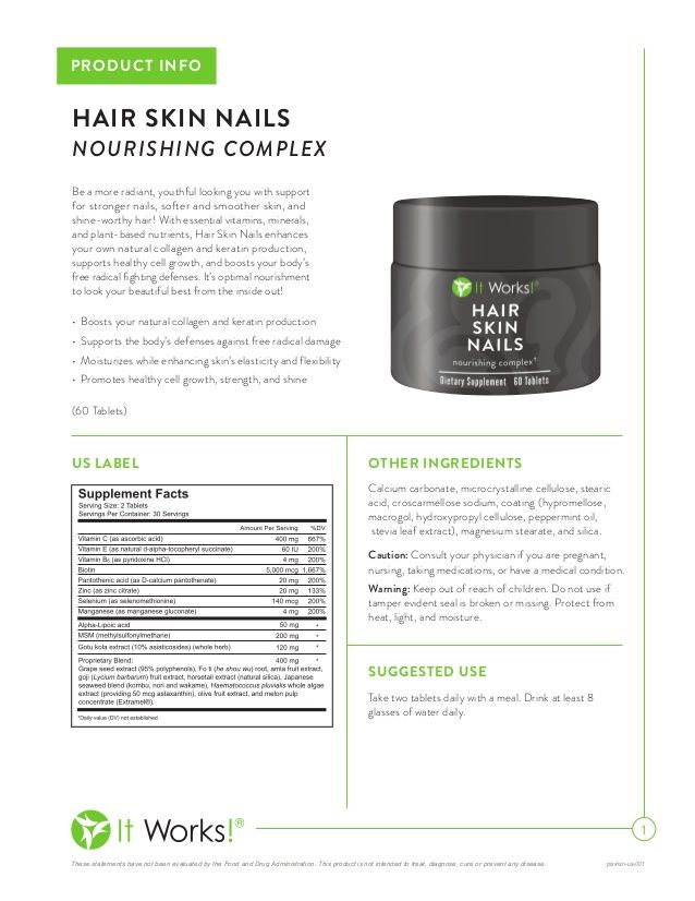 Hair Skin Nails by It Works global  www.sarahlamarlere.myitworks.com