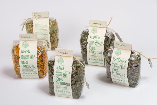 GreenLife // Tea packaging by filip nemet, via Behance