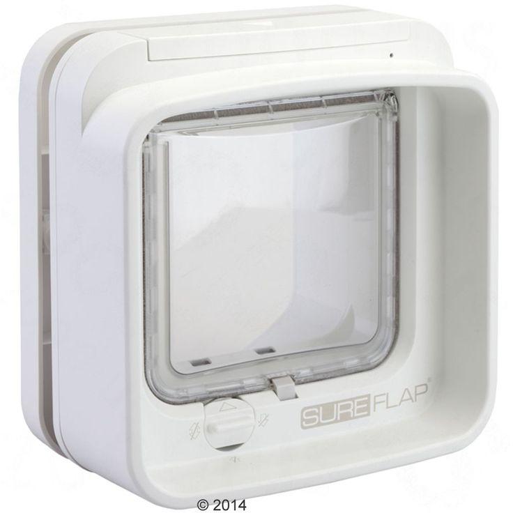 Animalerie  Chatière à puce électronique SureFlap DualScan pour chat  adaptateur pour portes vitrées (blanc)