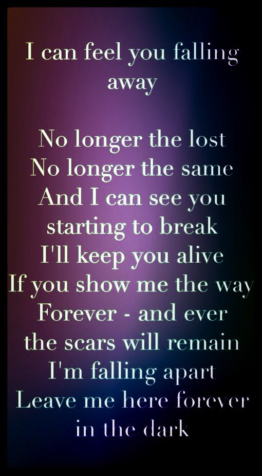 Breaking Benjamin - Give me a sign lyrics *No longer the lost, no longer the same