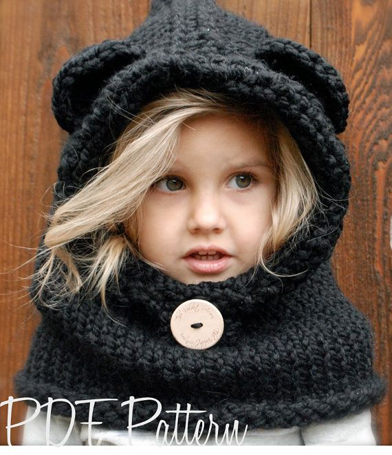 This listing is a PDF PATTERN ONLY for the Burton Bear Cowl, NOT finished product. This cowl is handcrafted and designed with comfort and warmth in mind... Perfect for layering through all the seasons... This cowl makes a wonderful gift and of course also something great for you or your little one to wrap up in. All patterns written in standard US terms. This pattern does have some crochet edging and details *Sizes: 6/9 month - 12/18 month - Toddler - Child - Adult sizes *Any Super Bulk...