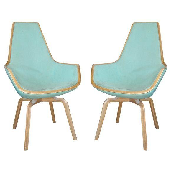 Giraffe Chairs by Arne Jacobsen: Midcentury Wood, Modern Chairs, Blue Giraffes, Century Chairs, Giraffes Chairs, Mid Century, Eclectic Chairs, Arne Jacobsen, Photo