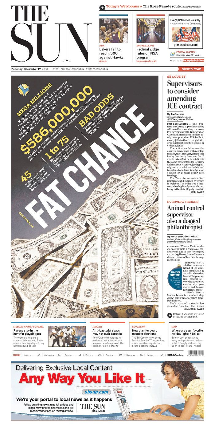 Fat Chance #GraphicDesign #Newspaper #Design