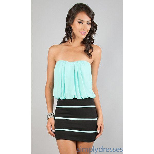 Short Casual Strapless Dress