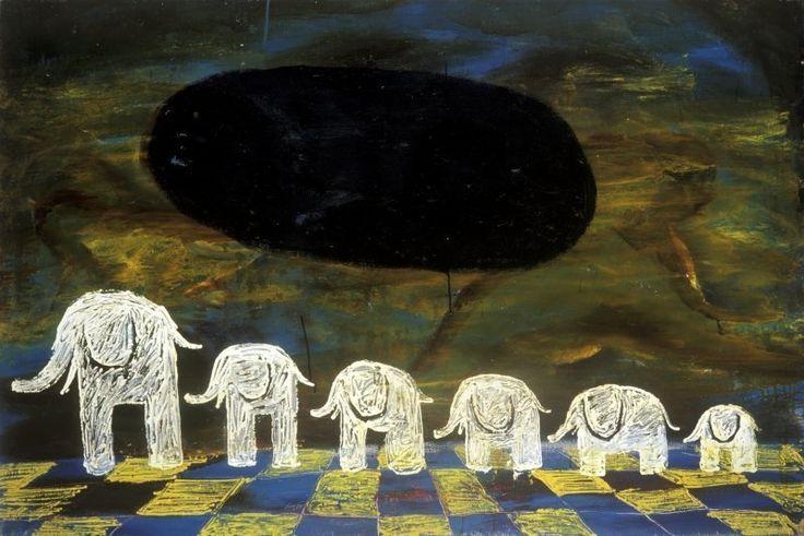 <em>6 elephants</em>, 1991