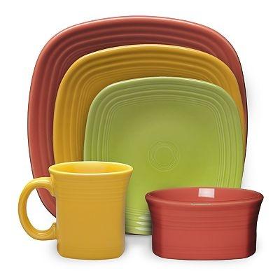 Fiesta® Square Dinnerware Collection ~ Paprika Sunflower \u0026 Lemongrass  sc 1 st  Pinterest & 145 best Fiesta® / Homer Laughlin China: Square Fiesta® images on ...