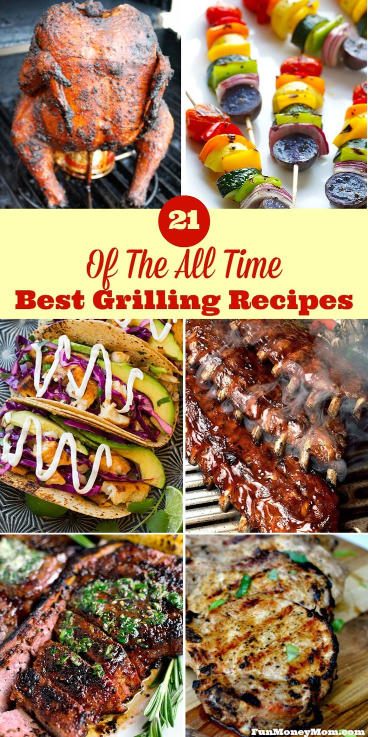 Ready for a cookout but want something new to throw on the grill? I've found some of the all-time best grilling recipes for your backyard barbecue. The hardest part will be narrowing down which one you